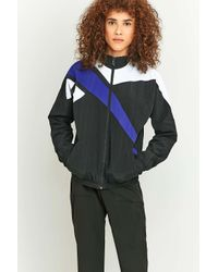 Reebok Retro Colour Block Black Zip Jacket