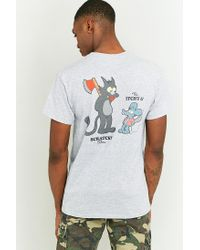 Urban Outfitters Gray Itchy & Scratchy Grey T-shirt for men