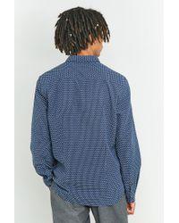 Suit Dexter Dust Blue Dobby Shirt for men