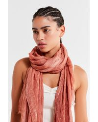 Urban Outfitters - Multicolor Lightweight Foil-flecked Scarf - Lyst