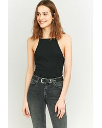 Urban Outfitters | Black Urban Outfitters Rib T-back Cami | Lyst