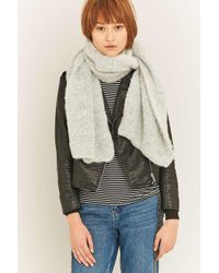 Urban Outfitters | Gray Soft Pilled Grey Scarf | Lyst