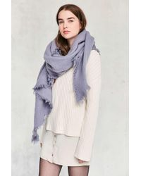 Urban Outfitters   Multicolor Nubby Oversized Blanket Scarf   Lyst