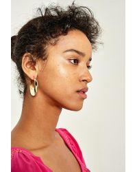 Urban Outfitters - Metallic Premium Hollow Hoop Earrings - Lyst
