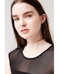 Urban Outfitters - Metallic Wire Tattoo Choker Necklace - Lyst