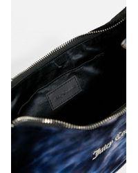 Juicy Couture Black Schultertasche Kendalaus Velours