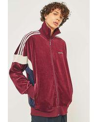 97febf771a84 adidas Originals Clr84 Maroon Velour Track Top - Mens Xl in Red for ...