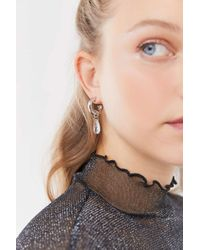 Urban Outfitters Multicolor Monroe Chunky Charm Hoop Earring