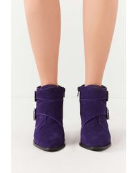 Urban Outfitters - Purple Talia Suede Buckle Ankle Boot - Lyst