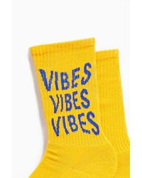Urban Outfitters Metallic Vibes Sport Crew Sock for men