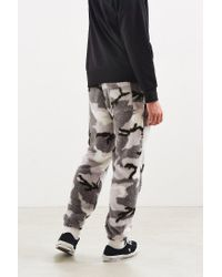 Urban Outfitters Gray Uo Charles Camo Sherpa Sweatpant for men
