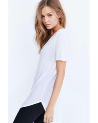 Truly Madly Deeply White Deep-v Tee