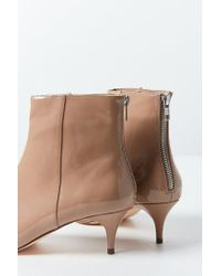 Urban Outfitters - Brown Bailey Patent Kitten Heel Ankle Boot - Lyst