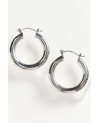 Urban Outfitters - Metallic Hollow Hoop Earring - Lyst