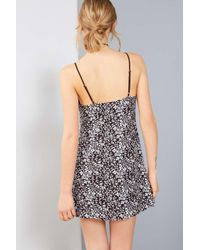 Kimchi Blue Brown Cambridge Floral Dobby Slip Dress - Womens Xs