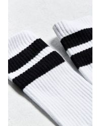 Urban Outfitters White Sport Stripe Sock for men