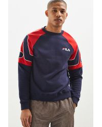 a5c960c239de Lyst - Fila Black Line Sweatshirt With Embroidered Sleeve Logo In ...