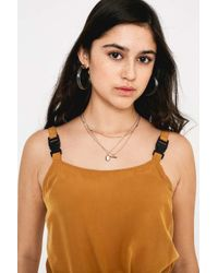Urban Outfitters Orange Uo Emmy Utility Buckle-strap Mini Dress