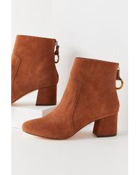 Urban Outfitters - Harlow Suede O-ring Brown Ankle Boot - Lyst