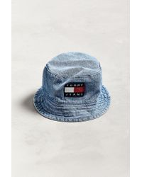 8f74365668e Lyst - Tommy Hilfiger Tommy Jeans  90s Sailing Denim Bucket Hat in ...