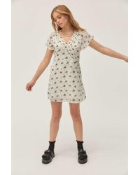 Urban Outfitters Multicolor Uo Rosalee V-neck Mini Dress