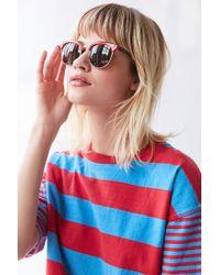 Urban Outfitters - Orange Skylar Half-frame Sunglasses - Lyst