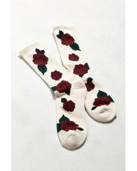Urban Outfitters - White Rose Sport Sock - Lyst