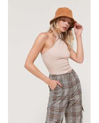 Urban Outfitters Multicolor Uo Cut-in Mock Neck Tank Top