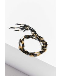 Urban Outfitters - Black Beaded Bracelet Set - Lyst