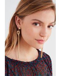 Urban Outfitters   Metallic Easley Fringe Drop Earring   Lyst