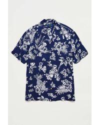 Polo Ralph Lauren Blue Floral Bear Button-down Shirt for men
