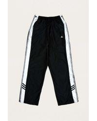 Urban Renewal Vintage One-of-a-kind Black Adidas Popper Track Pants