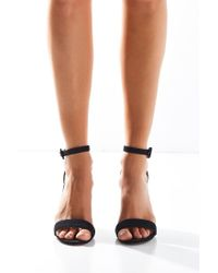 Urban Outfitters Black Thin Ankle Strap Heel