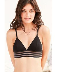 Out From Under Black Banded Triangle Bra