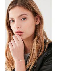 Urban Outfitters - Metallic Hand Charm Slider Bracelet - Lyst