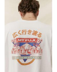 Urban Outfitters Uo White Mount Fuji T-shirt for men