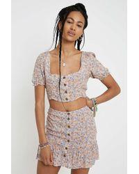 Urban Renewal Purple Inspired By Vintage Floral Mini Skirt