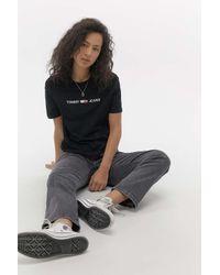Tommy Hilfiger Black Linear Logo T-shirt