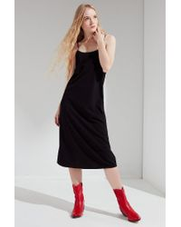 Urban Outfitters - Black Uo Cami Slip Midi Dress - Lyst