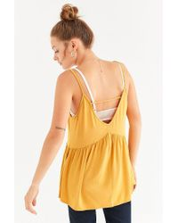 Urban Outfitters | Yellow Uo Strappy Swing Tank Top | Lyst