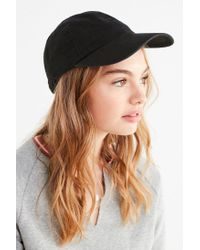 Urban Outfitters - Black Washed Canvas Baseball Hat - Lyst