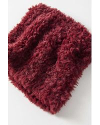 Urban Outfitters Red Plush Teddy Neck Gaiter Scarf