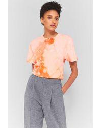 Obey Bleached Orange Tie Dye T-shirt