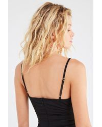 Urban Outfitters Black Uo Satin Tie-front Mini Dress