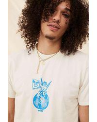 Obey Natural Cream Graphic Cherub T-shirt for men