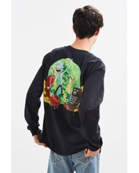 Urban Outfitters Black Rick And Morty Long Sleeve Tee for men