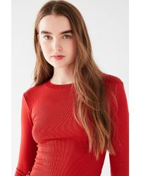 Urban Outfitters - Red Uo Perry Bell-sleeve Tee - Lyst