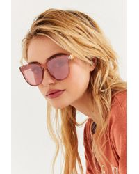 Urban Outfitters - Pink Hannah Translucent Cat-eye Sunglasses - Lyst