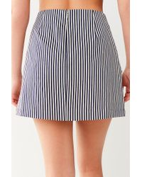 Urban Outfitters - Multicolor Uo Alexa Tie-front Mini Skirt - Lyst