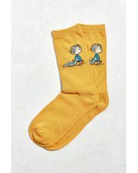 Urban Outfitters - Orange Linus Sock for Men - Lyst